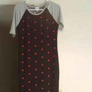 Lularoe Julia polka-dot teeshirt dress